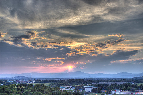 sunset summer sky mountains clouds swan terry hdr aldhizer terryaldhizercom valleyroanokesalemvintonvirginialandscape
