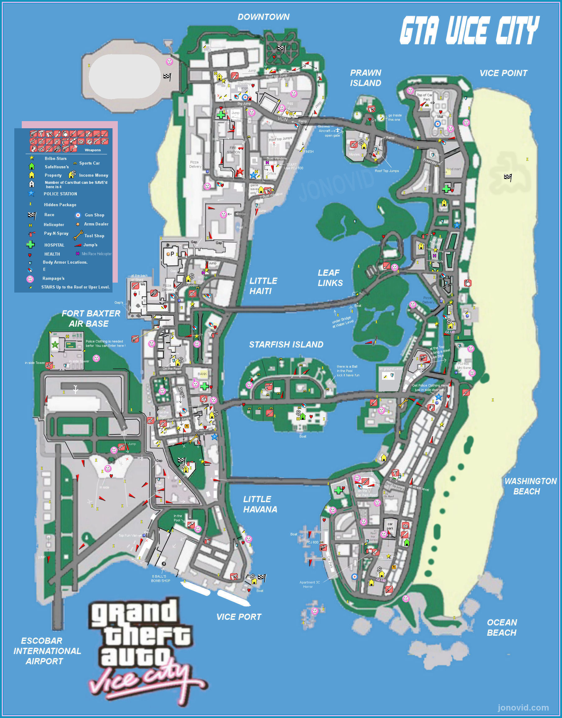 All sizes | GTA vice city Game Map | Flickr - Photo Sharing!