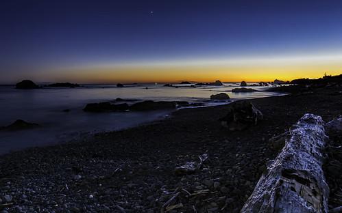 crescentcity sunset stevejordan sky seascape water reflection bluehour california log beach rocks shore shoreline landscape nature nikond7100 punahou77 pacificocean stars