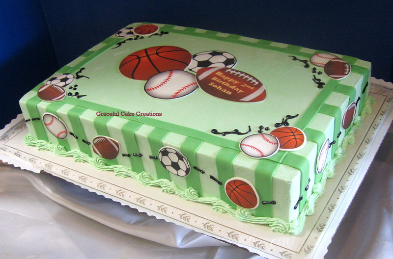 Fantastic Sports Themed Birthday Cake A Simple And Affordable Way To Flickr Funny Birthday Cards Online Alyptdamsfinfo
