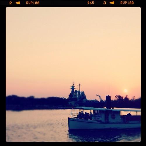 ri sunset sun wil river nc downtown ray northcarolina cap rays battleship wilmington nor wi capefear