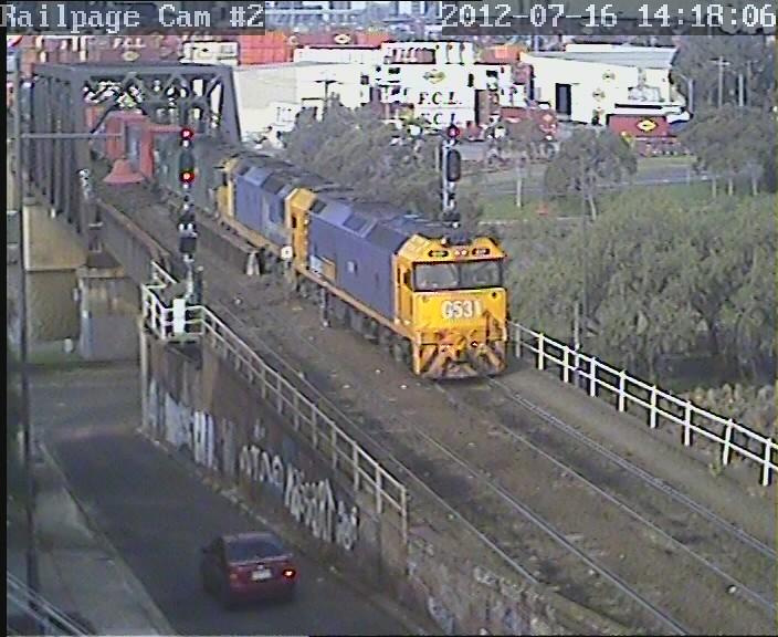 G531-DL50-G541 2MC2(9693) PN Portlink to Ettamogah/Bomen/Marrar/Leeton/Griffith 16-7-2012 by Railpage Bunbury Street