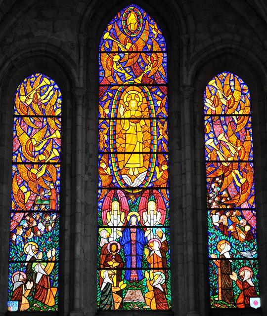 L'Ascension, vitraux de François Décorchemont - Eglise de Pacy-sur-Eure
