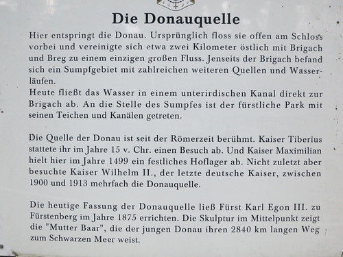 Information sign at Donauquelle near Stadtkirche St. Johann, Donaueschingen. | by Steven Byrnes