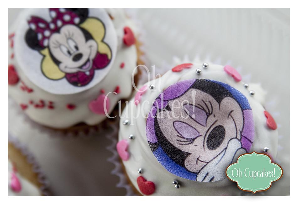 Cupcakes De Minnie Mouse Cupcakes Decorados Con Impresión