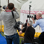 press photographers | A gaggle of press photographers