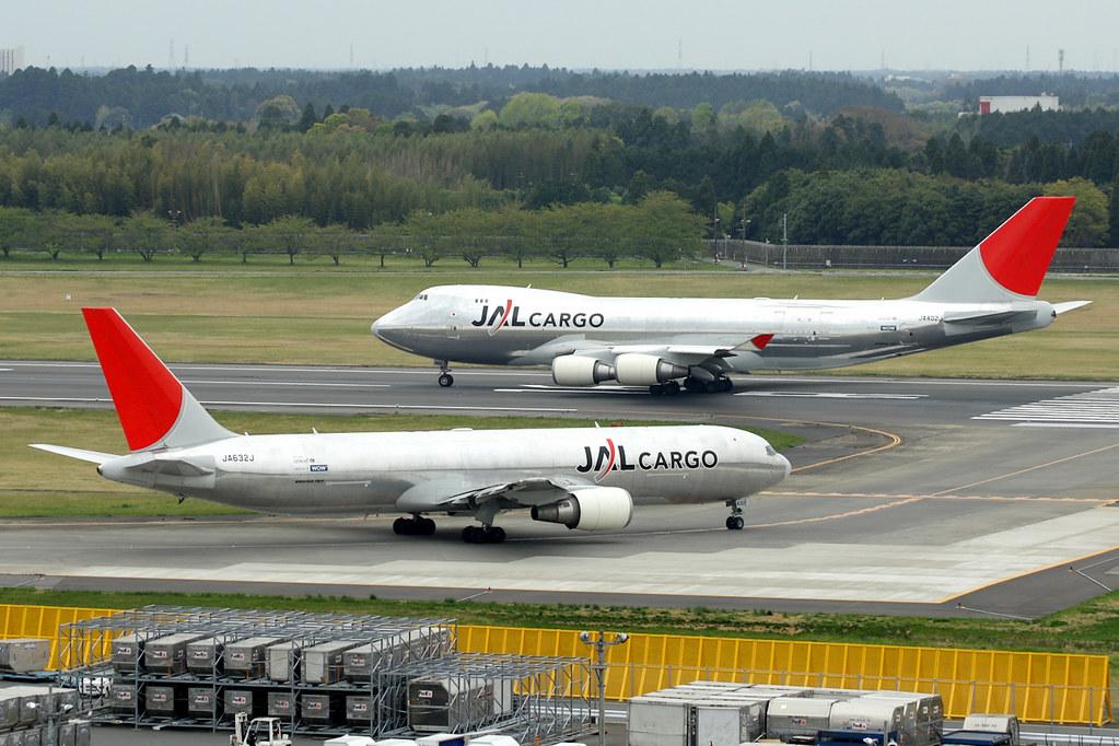 JAL Cargo | Boeing 767-300ERF & Boeing 747-400F | Bare metal livery | Tokyo Narita