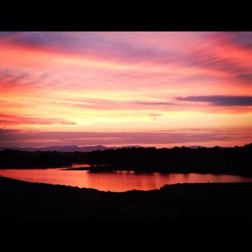pink sunset orange lake sunrise virginia pod photoaday 2012 northernvirginia 365days 366days