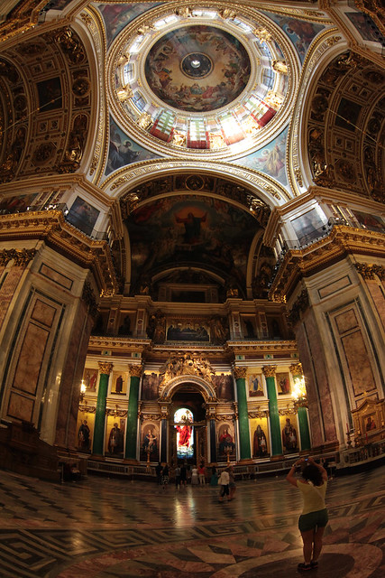 St.Isaac`s Cathedrals central point and the dome view