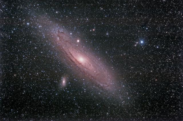 la galassia di Andromeda, dalla Corsica con il 70ED (reprocessed, more dark)