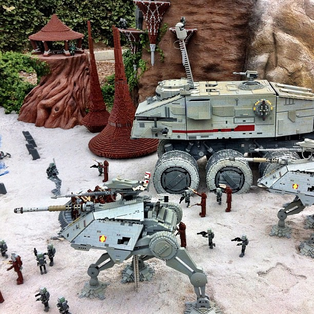 Lego Star Wars Miniland At Legoland Battle Of Kashyyyk Clo Flickr