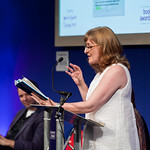 Janice Galloway at the Scottish Mortgage Investment Trust book awards | Janice Galloway reads from her memoir All Made Up during the Scottish Mortgage Investment Trust awards. Shortly afterwards she was announced as the winner of the Scottish Book of the Year.