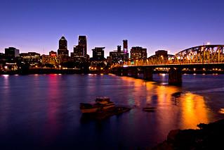 Portland - Bridges hawthorne bridge   by Brian Legate