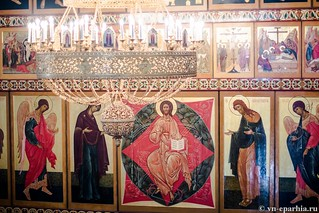 Литургия в Хутынском монастыре 115