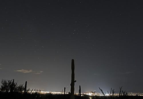 Mars, Saturn, and Antares aligned over Tucson, Arizona