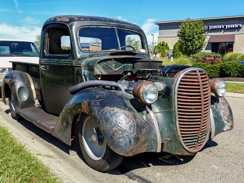 1938 Ford Truck >> Well Powered 1938 Ford Pickup Truck On The Street Next To