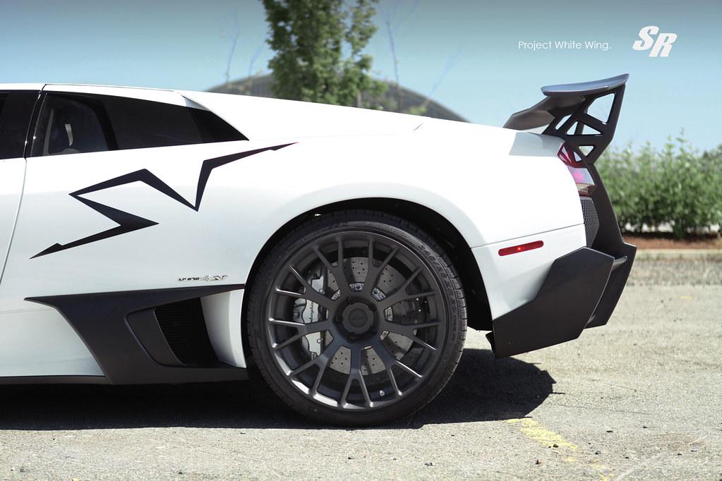 Lamborghini Murcielago Sv White Wing Pur Srautogroup Com Flickr