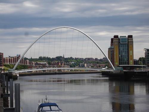 Millennium Bridge & Baltic Flour Mill Gateshead