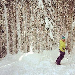 Big Cheif Trees @ Stevens Pass & Ski Instructor Alicia Lycan | by ospreyraftingco