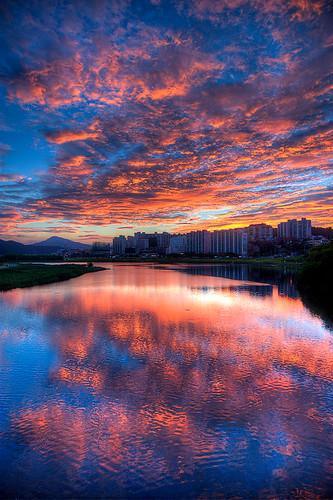 sunset sky clouds asia korea hdr ulsan koreanphotography