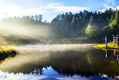 戶外 安詳 水 天空 風景 湖泊 臺灣 lake outdoors landscape sky pond morning sunrise 加羅湖