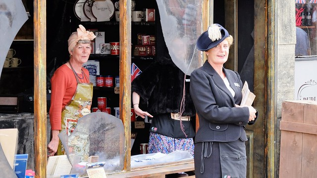Chatham historic dockyard KENT, Salute to the 40s , old shop