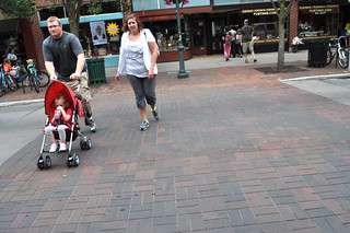 Physical Design and Walkability in Traverse City with Decorative Brick Crosswalk