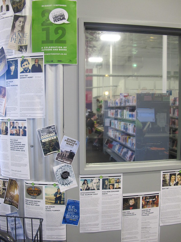 The Press Christchurch Writers Festival display