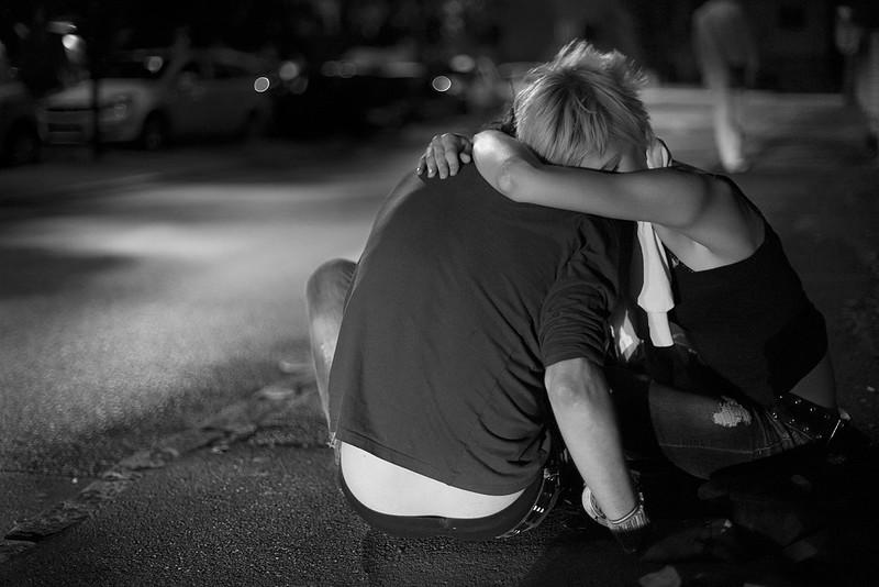 Street hug