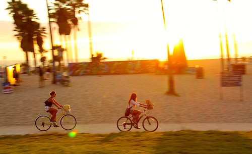Sunset Bike in Venice Beach | by Eric Demarcq