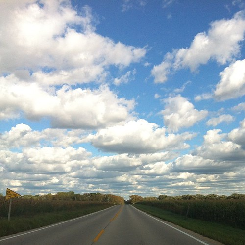 If you're going to drive to Chicago, you should do it with clouds like these. #unfiltered | by justjamey