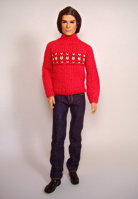 Jesse (Barbie Basics Ken) in red sweater
