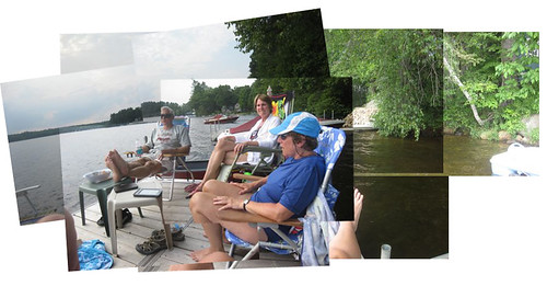 dock at the cabin collage