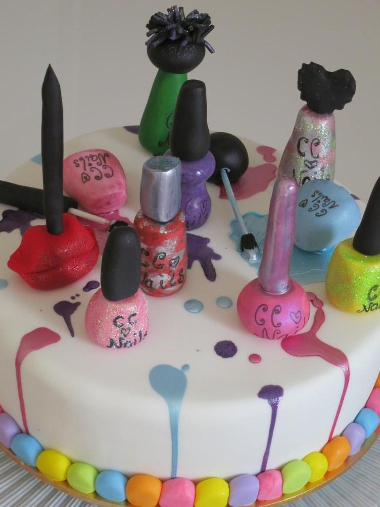 Pleasing Spa Party Cake Kiwigirlsteph Flickr Funny Birthday Cards Online Necthendildamsfinfo