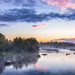 Bright summer night in river Kiiminkijoki by M.T.L Photography
