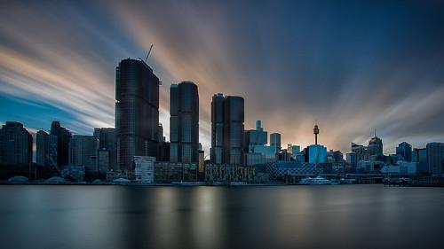 balaaratpark building cityskyline cityscape clouds landscape longexposure nsw pyrmont sunrise sydney sydneyharbour