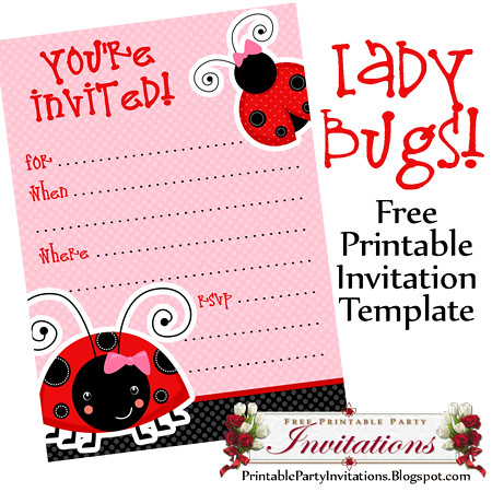photo regarding Printable Ladybug identified as Cost-free Printable Ladybug Invites A absolutely free printable templa