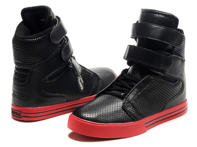 quality design 0c8ae b4175 ... Supra-TK-Society-Black-Red-Perforated-Shoes-Discount-