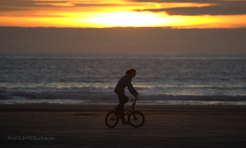 ocean sunset beach bike kid pacific longbeach