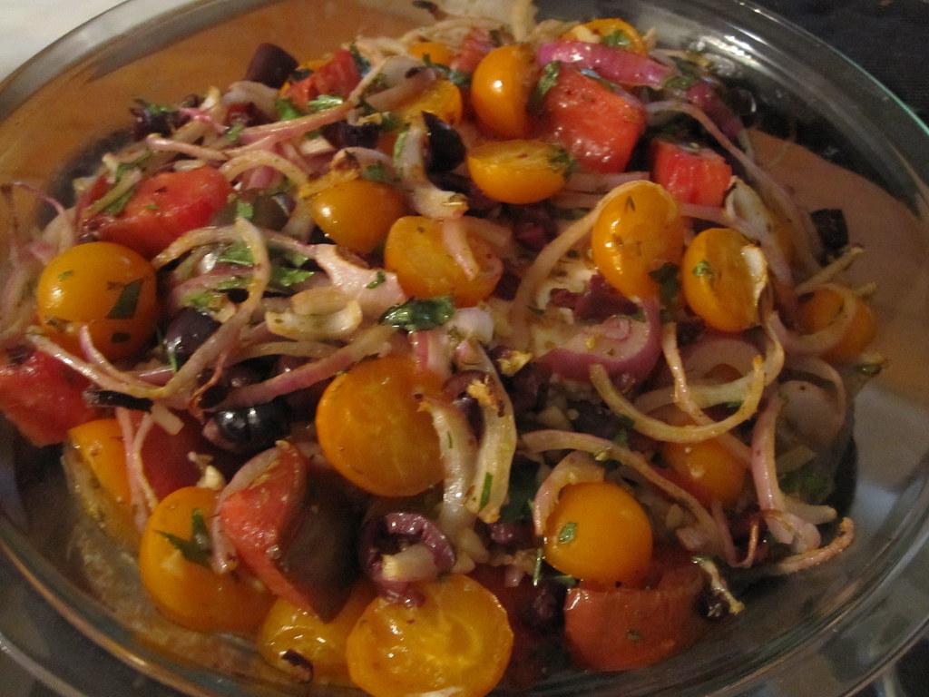 Baked feta with tomato salad   smittenkitchen.com/blog/8/…   Flickr