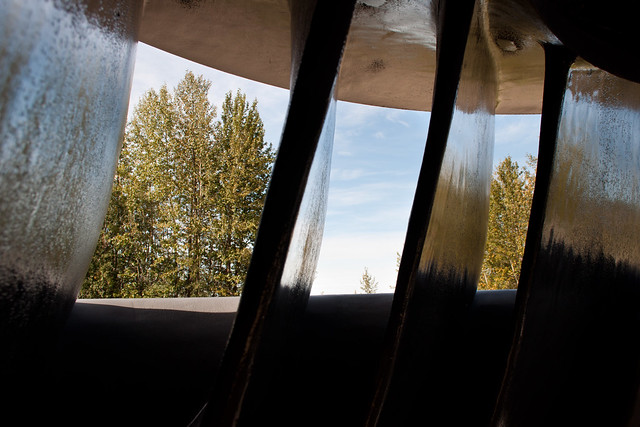 Looking through the turbine blades