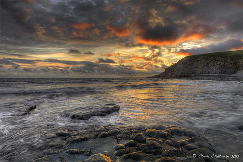 uk sunset sea beach wales clouds canon rocks waves cliffs bcc 2012 dunraven giottos heritagecoast leefilters 5dmk11 stevechatman