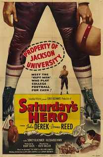 Poster for the movie Saturday's Hero, part of which was filmed at Pomona in 1950