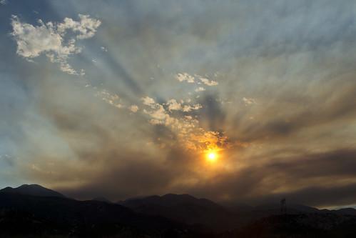 california red arizona sun mountain mountains clouds fire smoke 15 east