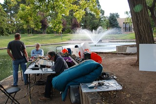 Frozen Music Ensemble 24hr performance at The UNM Duck Pond - 07 | by steev hise