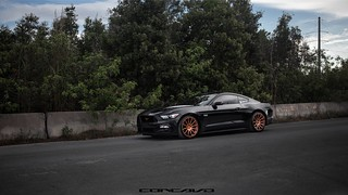 Ford Mustang on CW-12 Bronze | by Concavo Wheels