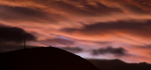 sunset clouds mtwellington hobart tasmania sky