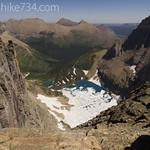 Iceberg Lake from Iceberg Peak saddle