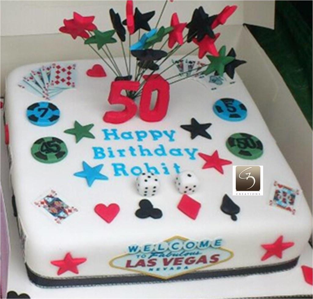 Fantastic Las Vegas Themed Cake Las Vegas Themed 50Th Birthday Cake Flickr Personalised Birthday Cards Petedlily Jamesorg