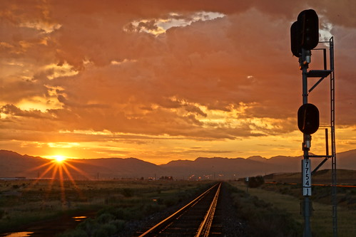 railroad morning train sunrise utah pacific sony union rail saltlakecity unionpacific hdr a65 mikechristensen spoiler3